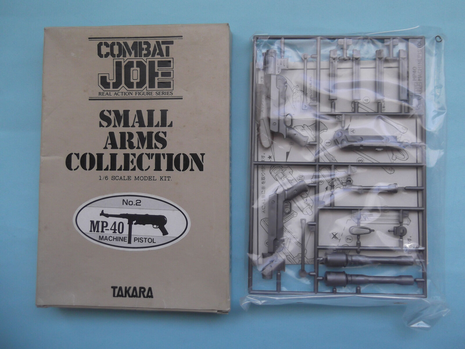 1984 TAKARA  COMBAT-JOE GERMAN MP-40 SMALL ARMS COLLECTION MINT IN BOX
