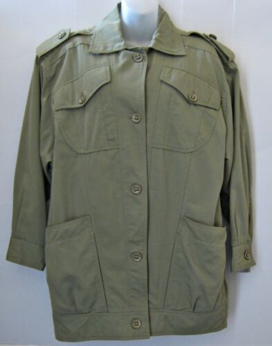 Grunge Coat Jacket anni Militare Green Sz Taylor Donna M '80 Trench Nwot Vtg Lord PaA00v