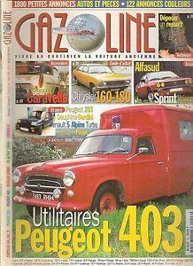 Analytique Gazoline 46 Chrysler 160 180 2l Alfasud Sprint Peugeot 403 Utilitaire Caravelle 100% D'Origine