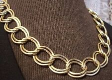 GOLD PLATED CHUNKY DOUBLE LINK CHAIN NECKLACE