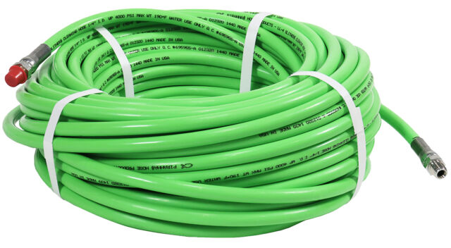 """Steel Dragon Tools® 3//8/"""" x 100/' 4000 PSI Thermoplastic Sewer Jetter Hose"""