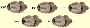 AIRCRAFT TOOLS NEW 5PC THREADED COLLET SET FOR AIR DRILL SET OF FRACTION COLLETS
