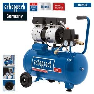 Scheppach-Leise-Kompressor-HC24Si-24L-Fluesterkompressor-8bar-Silent-nur-60dB