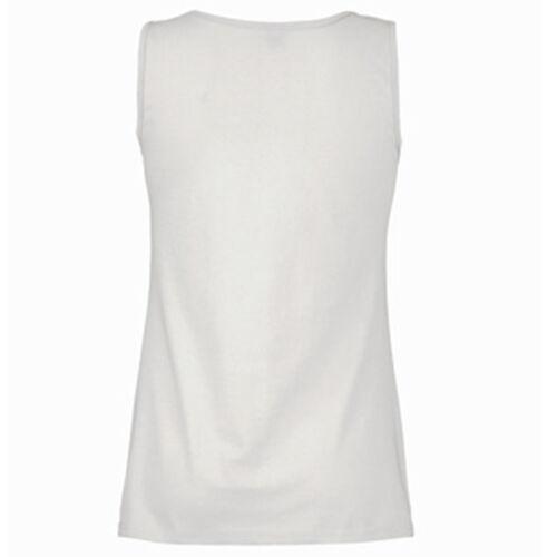 Personalised Womens Lady X10 Ladies Bulk Vest White Text Design Pack Fit Logo RqSXS4