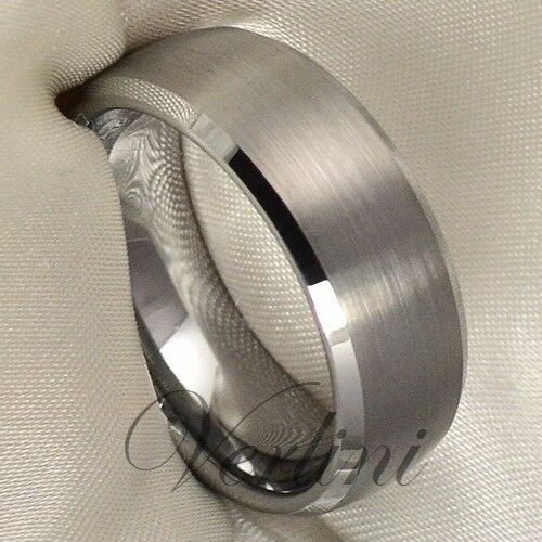 Tungsten Ring Men/'s Wedding Band Bridal Jewelry Titanium Color Size 6-13