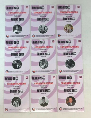 THE AVENGERS 50 Unstoppable ULTIMATE Complete PINK Chase Card Set #F1-F9
