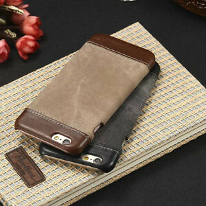 Luxury-PU-Leather-Hard-Back-Case-Cover-For-Apple-iPhone-amp-Samsung-Galaxy