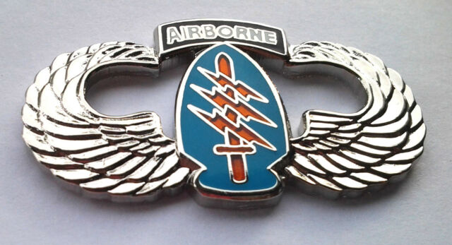 AIRBORNE SPECIAL FORCES WINGS  (LARGE) Military Veteran US ARMY Hat Pin 16038 HO
