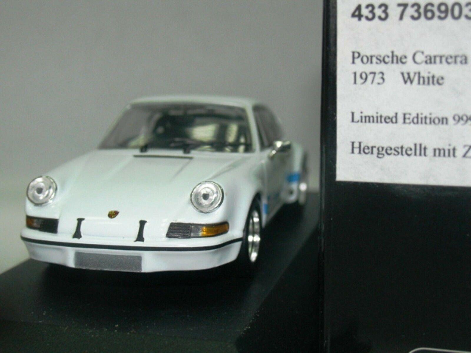 Wow extrêmement rare Porsche 911 RSR 2.8 Blanc Bleu 1973 1973 1973 1 43 Minichamps-GT2-R S T fcd56c