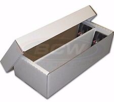 BCW 1600 Card Shoebox Cardboard Storage Box Works with 3X4 Toploaders  Dividers