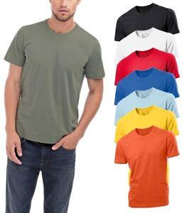 Hanes-Hombre-Liso-Mediano-Verano-Peso-Algodon-Organico-Camiseta-S-XXXL-No-Logo