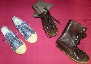 LOT-FILLE-FEMME-CHAUSSURES-POINTURE-37-MONTANTE-TOILE-PHILOSOPHY-38