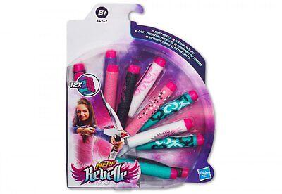 Hasbro NERF REBELLE 12 Darts Pfeile Blaster Nachschub f. Mädchen ab 8 Jahre