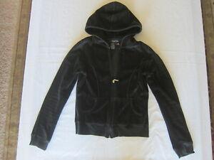 Black /& Blue 90/'s Velour Track Suit Jacket w Gold Zipper PocketsM-XL