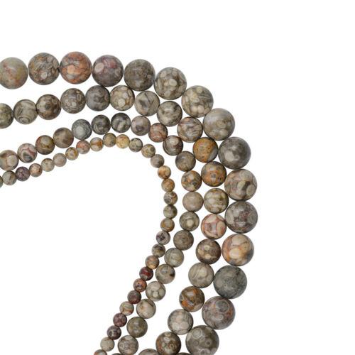 15.5 /'/' natürliche Maifanit Stein Spacer Perlen grau Runde lose Perlen Diy