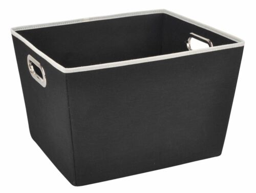 SB30319 SB30320 Sunbeam NEW Storage Bin Tote Medium or Large in Black or White