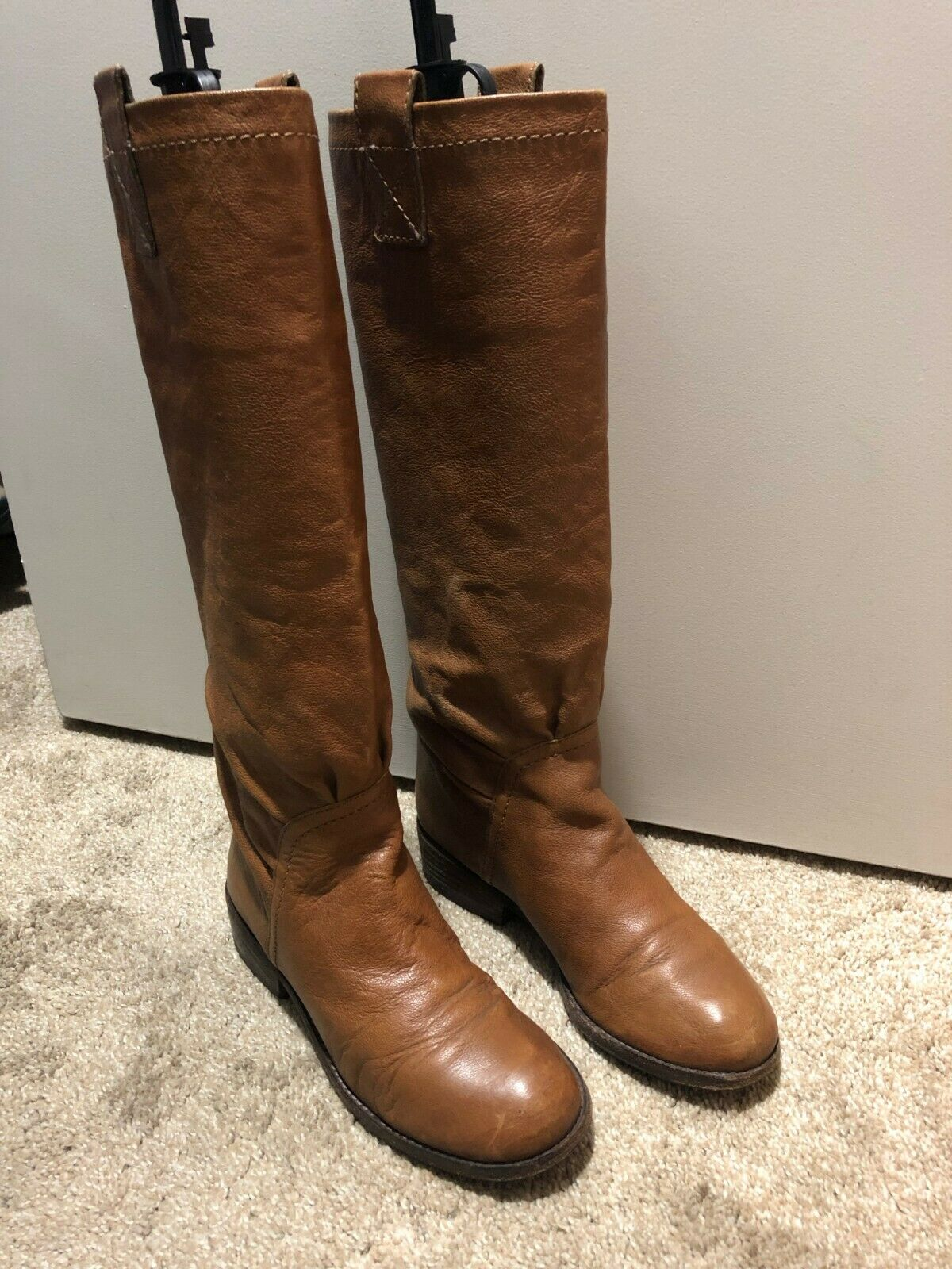 Marc by Marc Jacobs Camel Tall Leather botas Talla 37