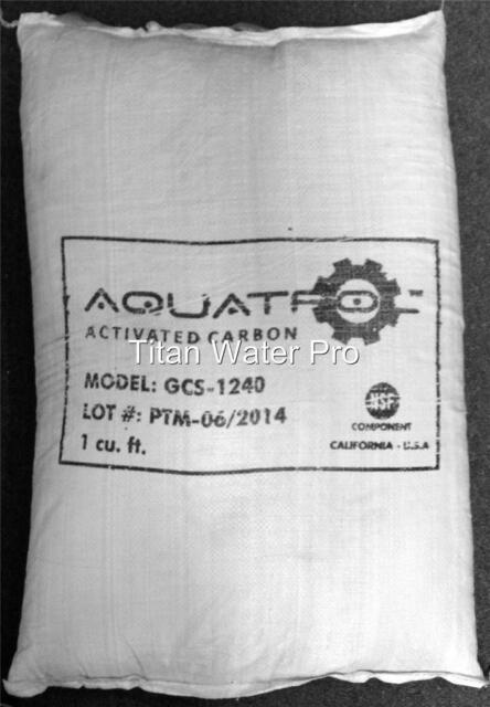 GAC Activated Carbon Coconut Shell 1 Cubic Feet - Replacement GAC Media FRP Tank