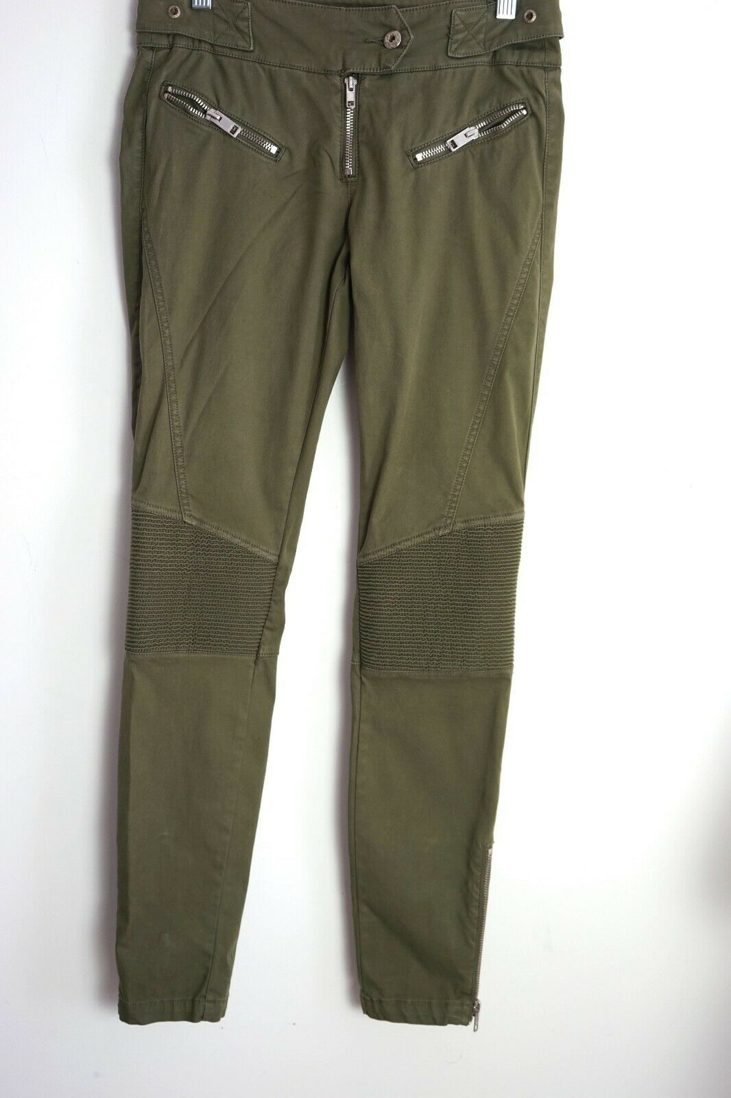 Diesel Biker style Military Olive Grün Pants Knee patch Sz 27