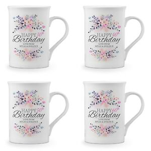 35f76811847 Image is loading Personalised-Floral-Happy-Birthday-Novelty-Gift-Fine-Bone-