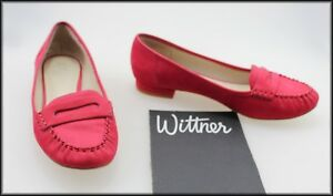WITTNER-WOMEN-039-S-FLAT-PINK-SUEDE-CASUAL-COMFORT-LOAFER-SHOES-SIZE-7-AUST-38-EUR