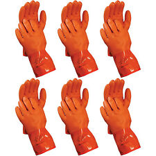 Atlas 460 Vinylove Cold Weather PVC Insulated Freezer Large Work Gloves, 6-Pairs