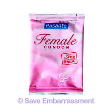 6 PASANTE FEMALE FEMIDOM Condoms - UK Post Free