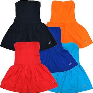 Hollister-Dress-Womens-Solid-Summer-Bettys-Seagull-Logo-Sundress-V082