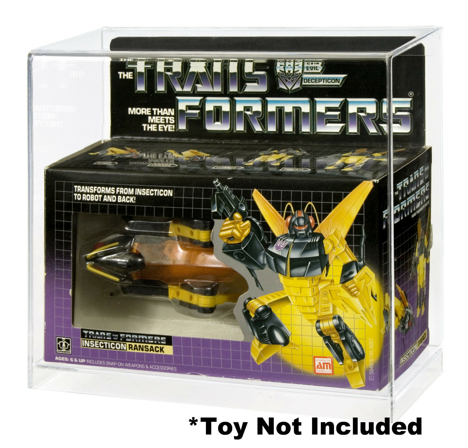 Transformers Insecticon Deluxe Acrylic Display Case