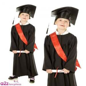 bace9411346 Boys Girls Deluxe 3 Piece Graduation Outfit Gown Sash Mortarboard ...