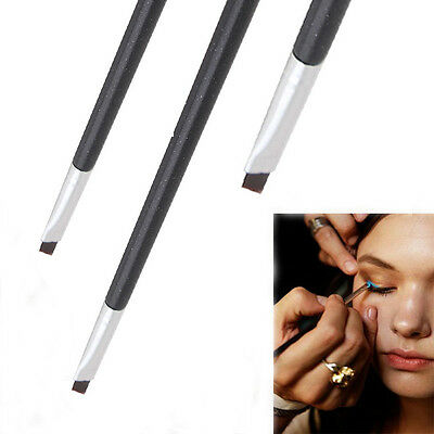 1pcs Good Quality Elite Angled Eyebrow Brush brown Handle Eye Liner Brow Tool