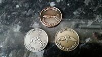 3 Airborne Spoof coins 2 Side with DC3, Pegasus, Wings  , 25mm dia + game rules