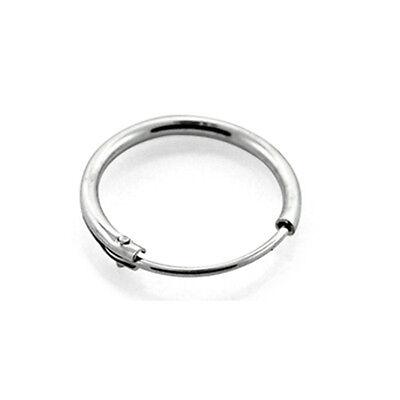 "925 Sterling Silver Nose Ring Hoop 1/4"" 6.4mm 22 Gauge 22G"