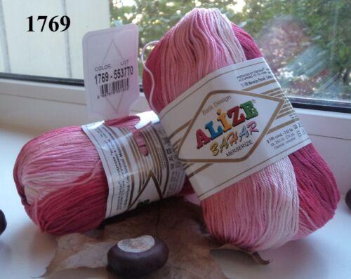 Hilado Alize Baħar Batik hilo 100/% algodón mercerizado hilo multicolor hilo colorido