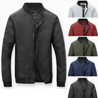 New Men's Fashion Casual Jacket Cotton Warm Winter Coat Slim Outwear Overcoat