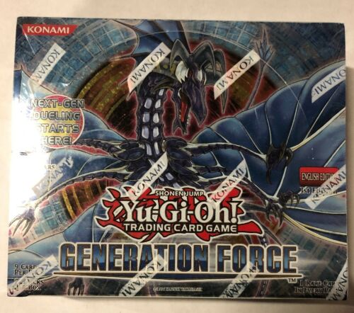 Yugioh Generation Force 1st Edition 24-Count Booster Box TCG CCG Cards
