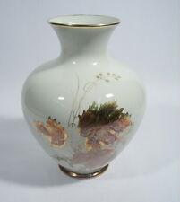 Royal Porzellan Bavaria KM Germany Vase mit Golddekor 50er Jahre Design