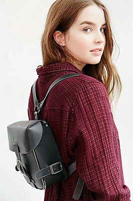 Urban Outfitters Black Leather Pins and Needles Harness Mini Backpack S/O $89