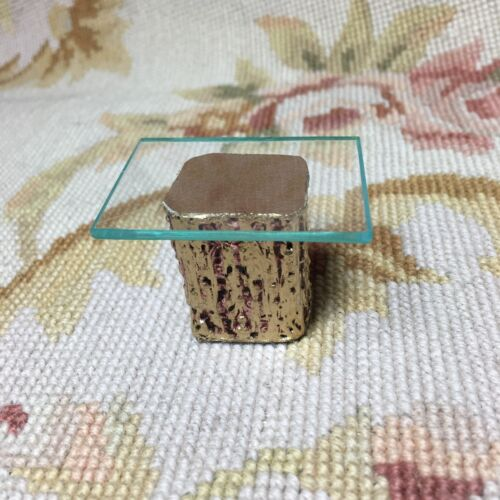 Pat Tyler Dollhouse Miniature OOAK Glass Top Side End Table 1:12 p838