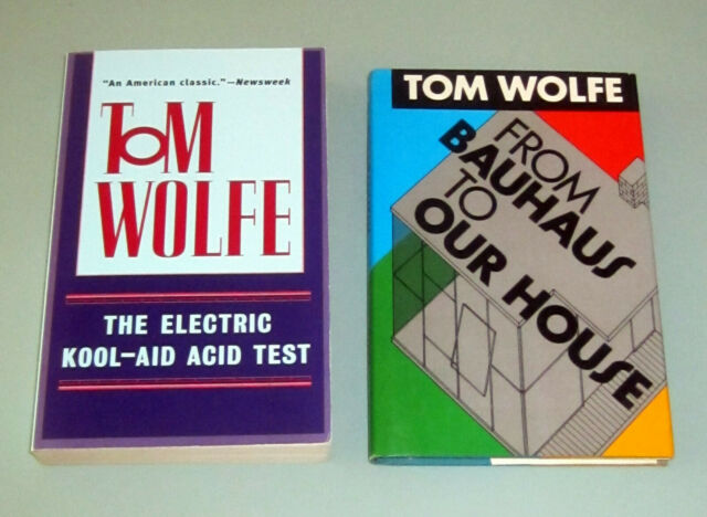 2 books TOM WOLFE ELECTRIC KOOLAID ACID KESEY PSYCHEDELIC BAUHAUS Architecture