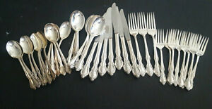 Rogers & Bro südlichen Pracht Royal Pageant Silverplate Bestecke 41 teilig Mix Lot