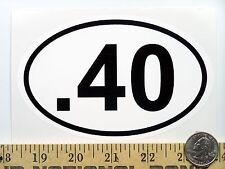 ".40   3 1/2"" x 5 1/2"" Oval Euro Bumper Sticker B204"