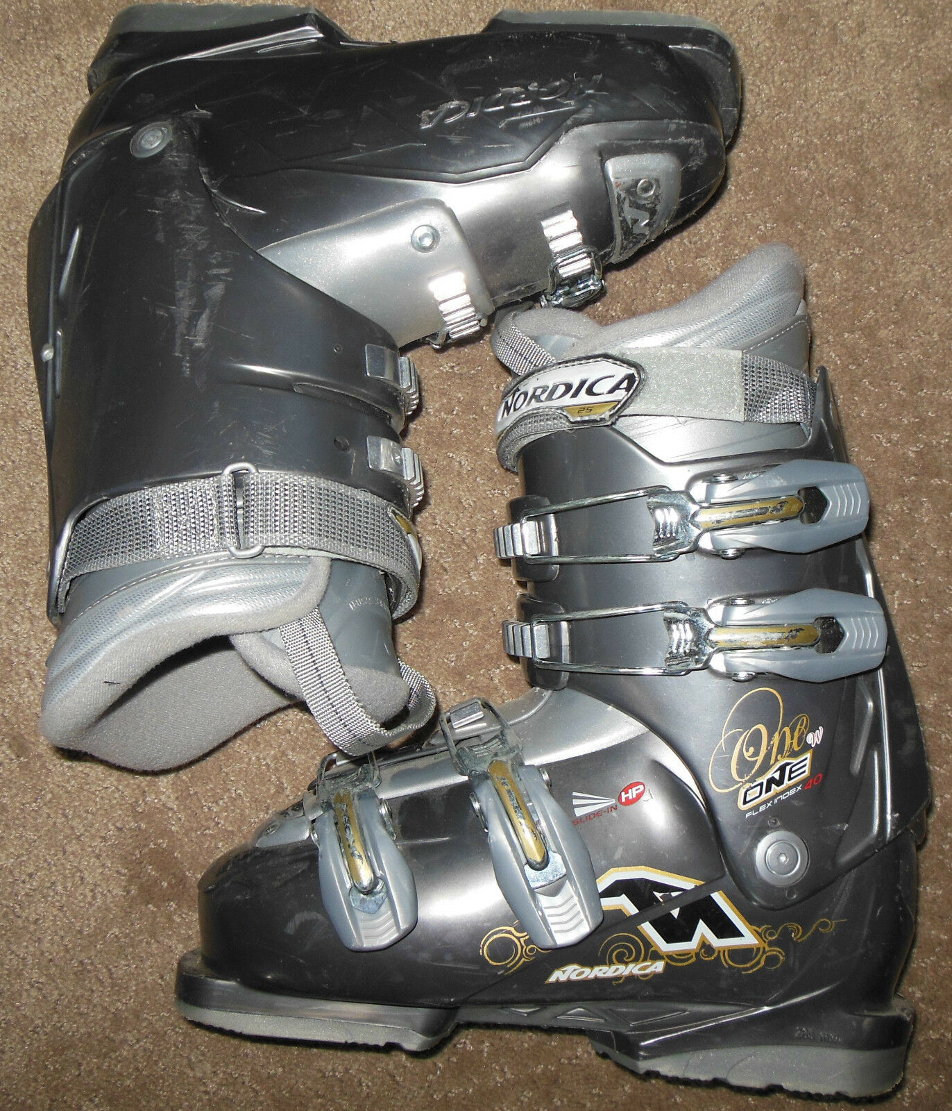 Nordica One 40 W Downhill Ski Boots womens Size 7.5,   24 mondo, 285mm sole