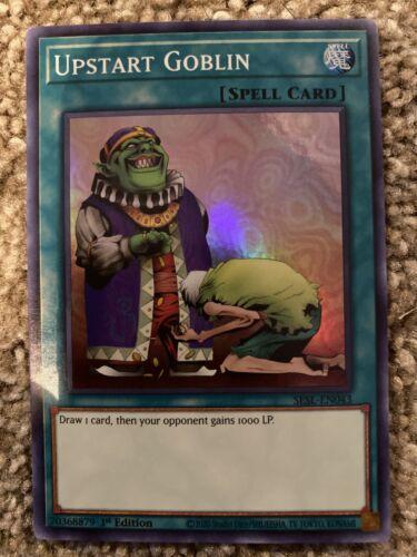 YuGiOh Upstart Goblin 1st Edition Near Mint SESL-EN043 Super Rare