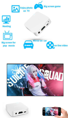Wireless WiFi HDMI HDTV Video Receiver Adapter for iPhone iOS Android to TV Car