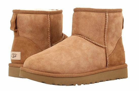 1b939d30b63 UGG Women's Classic Mini II Water Resistant Suede BOOTS Chestnut Size 11