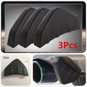 3Pcs-Rear-Bumper-Diffuser-Molding-Point-Garnish-Black-For-All-Car-Universal