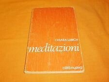 chiara lubich meditazioni città nuova 1985 br. cucita