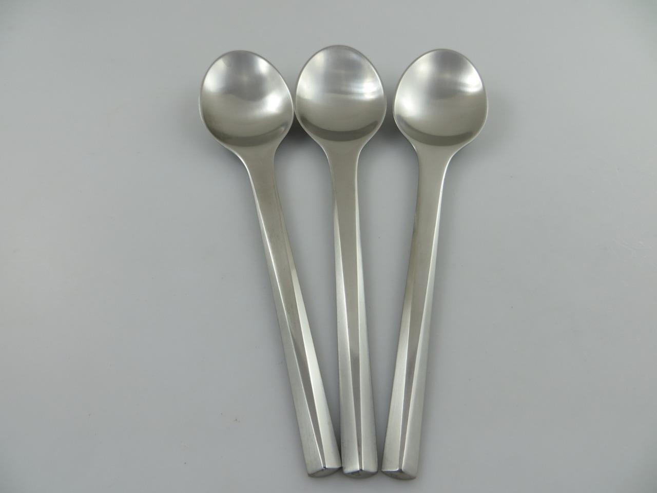 3 Teaspoons PRISM Georg Jensen Stainless Steel Flatware Denmark 6-1 4