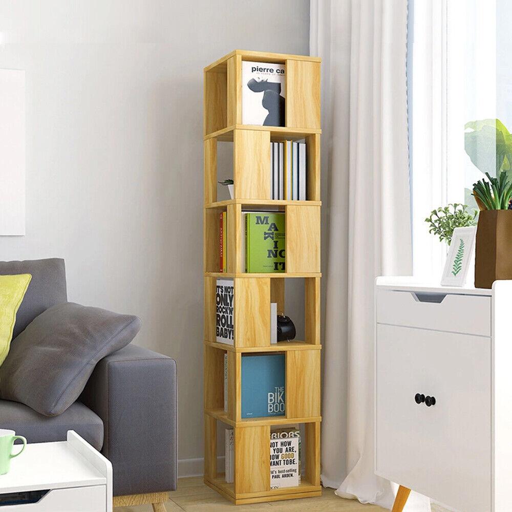 Modern 6 Tier Corner Cabinet Shelf, Corner Storage Cabinet For Living Room